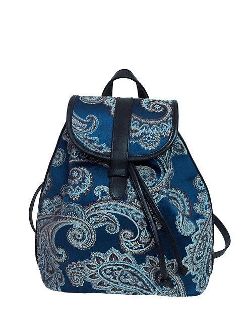 Blue Paisley Dream Backpack
