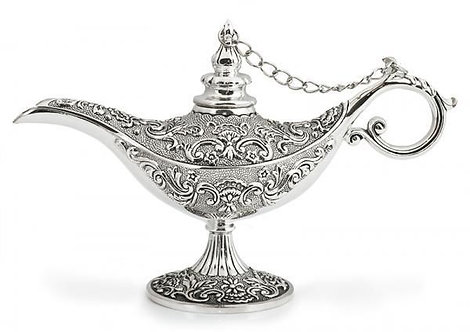 Alaadin Lamp Silver - Home Decor