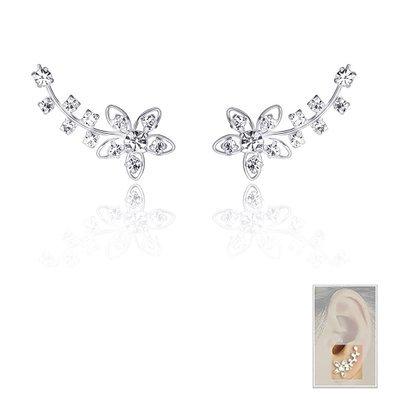 925 Sterling Silver Cuff Earrings