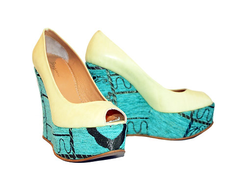 Green and Blue - Shoes Wedge