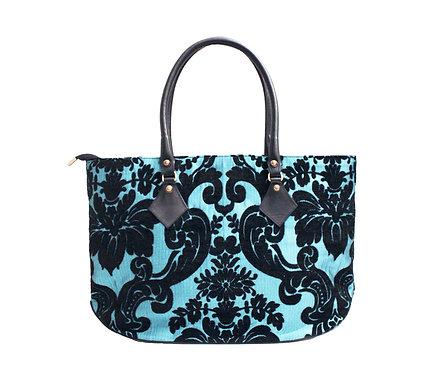 Black Turquoise Nyla Reverse Handbag