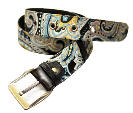 Textile Paisley Adjustable Jean Belt