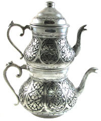 Turkish Traditional Teapot Silver