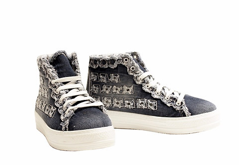 Denim - High Top Sneaker
