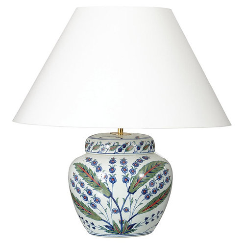 Hand-painted Iznik Lamp