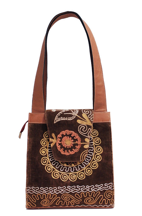 One of a kind Suzani Flap Satchel