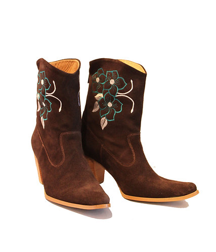 Brown Suede Embroidered - ANK Cowboys
