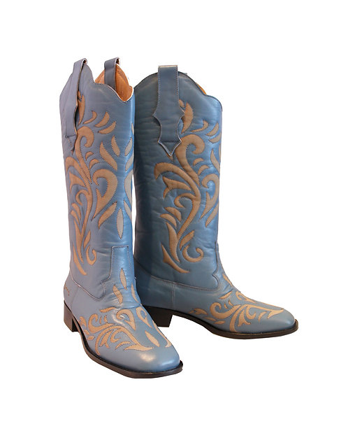 Blue Leather Laser - Western Riding