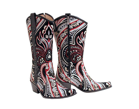Dark Angel Leather Side - Pull On Cowboys