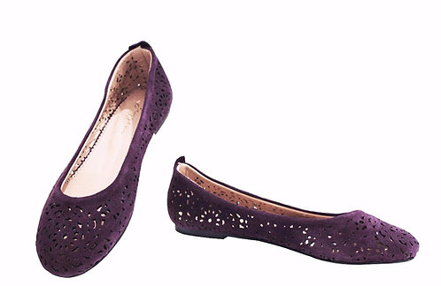 Purple Suede Laser Cut - Babette