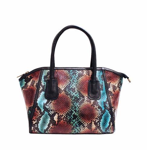 Blue Turquoise Python Handbag