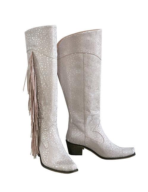 Dusty Pink Silver Fringe - KH Cowboys