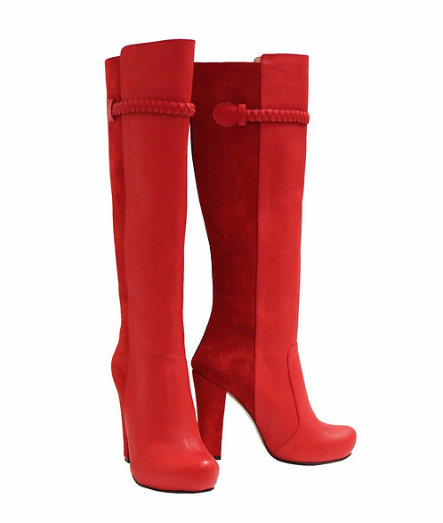 Red Leather Red Suede - Chunky