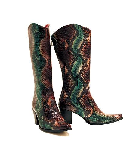 Brown Turquoise Python - Cowboys