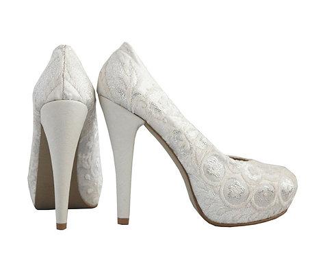 White Silver - Stiletto Pumps