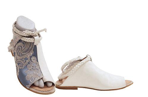 Ice Blue Leather - Gladiator Sandals