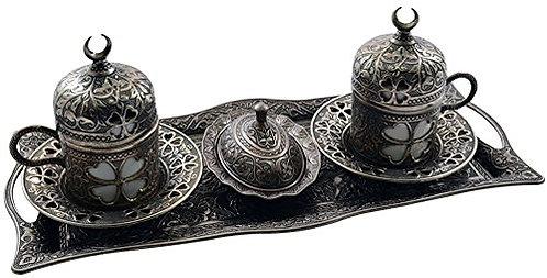 Turkish Coffee Set of 2 - Antique
