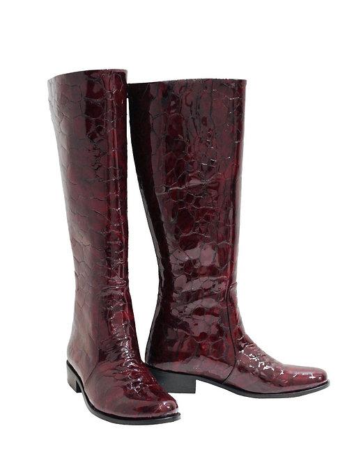 Deep Bordeaux Patent Leather - Riding
