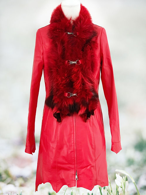 Red Leather Fox Khaleesi Coat