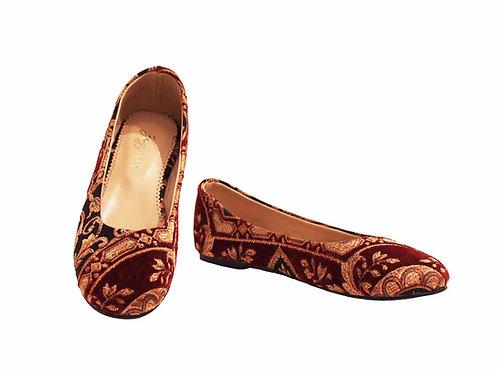 Red Ottoman - Babette
