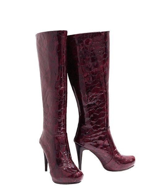 Deep Bordeaux Patent Leather - Stiletto