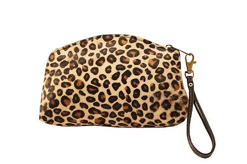 Leopard Calf Hair  Clutch/Wristlet