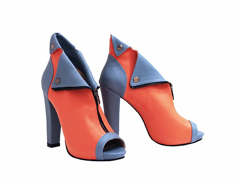 Jean Blue Orange Leather - ANK Chunky