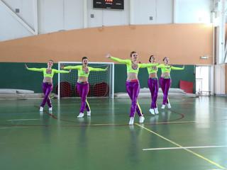 """В ФОК """"Динамика"""" прошли открытые соревнования по спортивной и фитнес-аэробике, посвященные"""