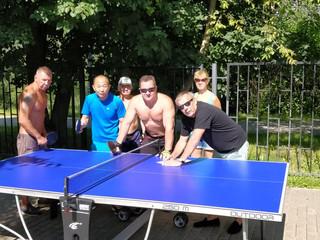 В Митино прошли соревнования по настольному теннису, посвященные Дню ВМФ