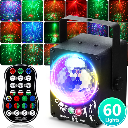 Party Lights, Led Dj Disco Lights With Sound Activated