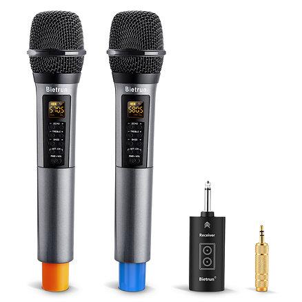 Wireless Microphone with Echo, Treble, Bass & Bluetooth