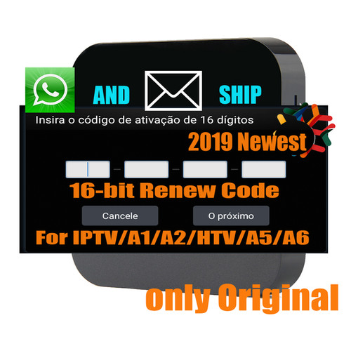 Brazil IPTV Box Activation Renew Code for A1 / A2 / HTV / IPTV 5/IPTV6/KING