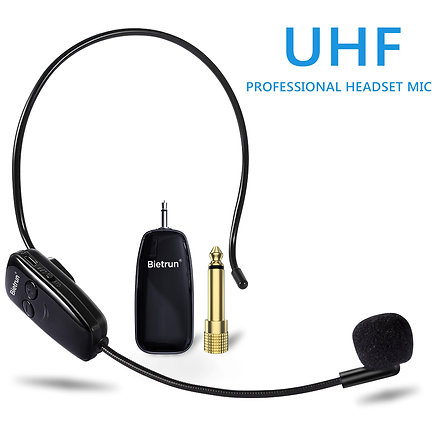 Wireless Microphone Headset, Uhf Wireless Headset Mic System
