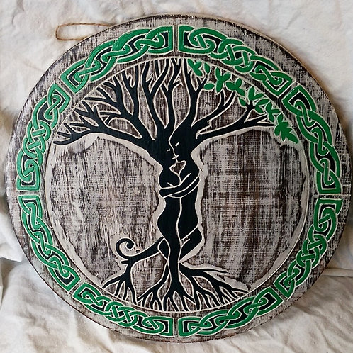 Colourful Wooden Tree of Life Plaque
