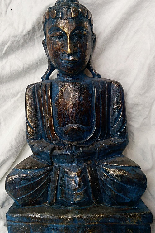 Large Painted Sitting Buddha