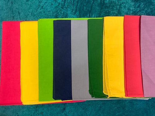 Plain coloured bandanas