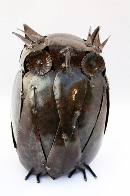 Large Metalwork Owl