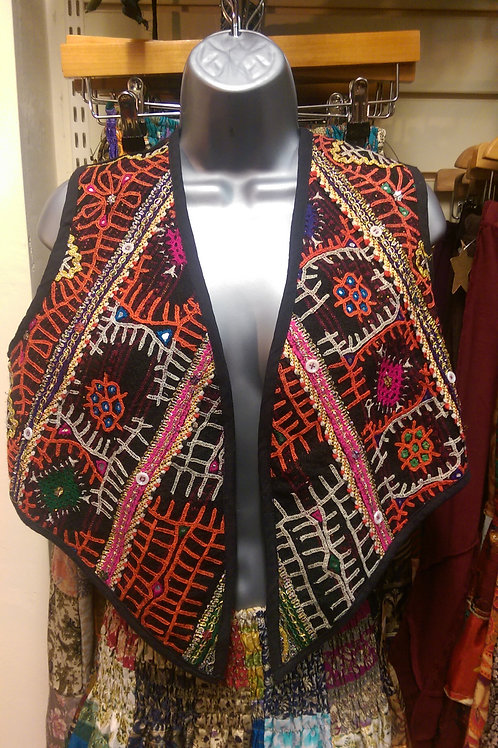 Embroidered Patterned Waistcoat