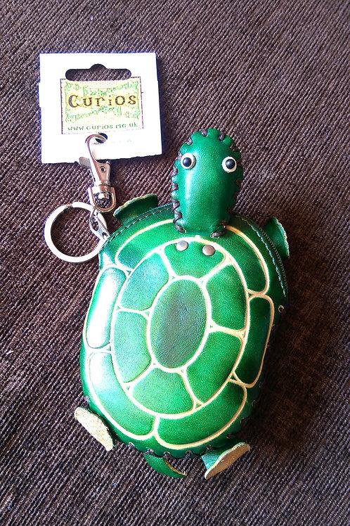 Leather Turtle Purse