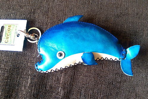 Leather Dolphin Purse