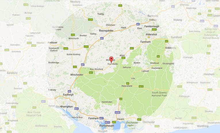 20 mile radius of Medstead