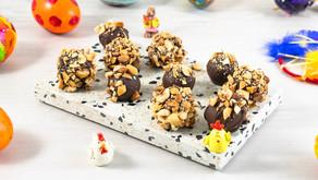Marsipankuler med sjokolade og nøtter