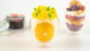 Semulegrynsgrøt med appelsin