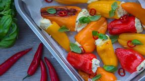 Bakt paprika med ostekrem