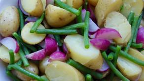 Potetsalat med reddik og brekkbønner