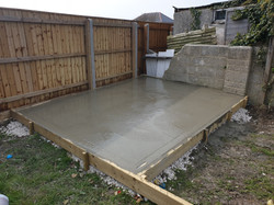 Decking, Concrete, Pergola