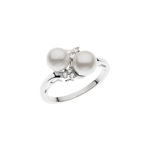 3650da3bc51cd5 This one is beautifully accented by 1/10 CTW diamonds to compliment those  amazing Twin pearls! Available in Sterling Silver, 14K White Gold and 14K  Yellow ...