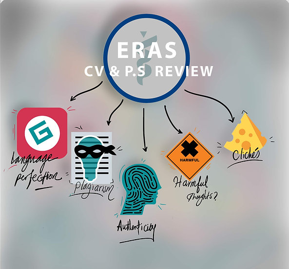 ERAS application Review:  CV and Personal statement .