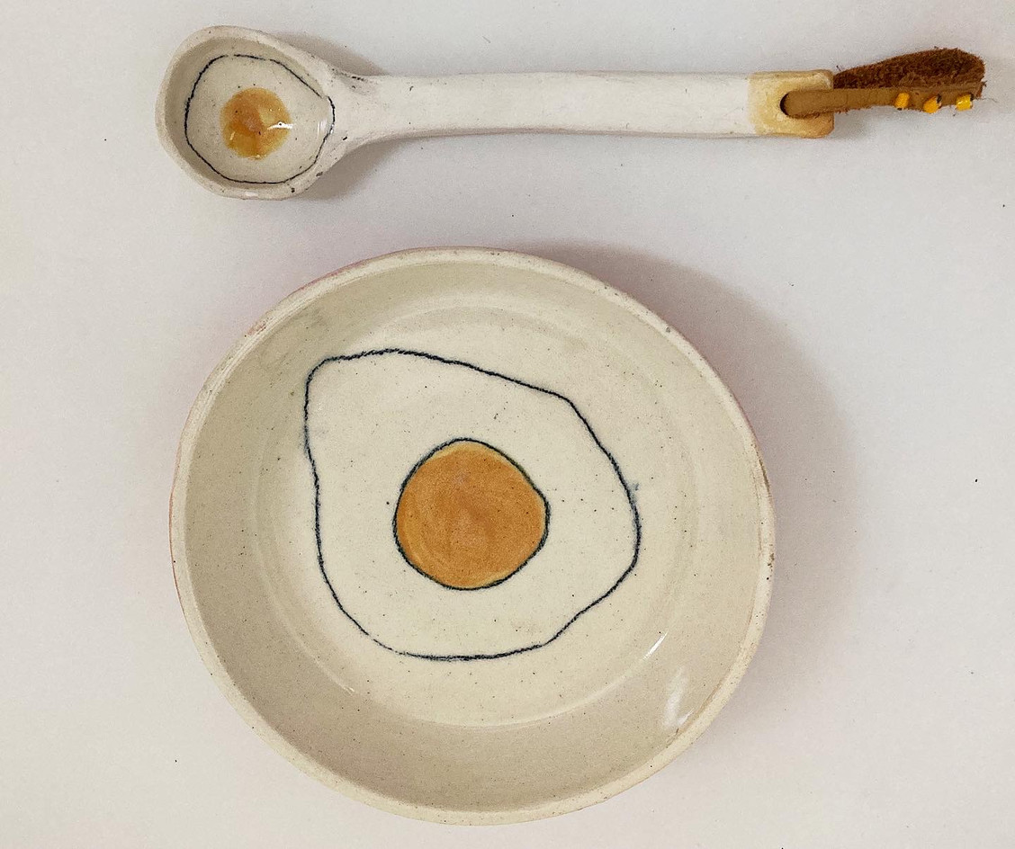 egg spoon and bowl