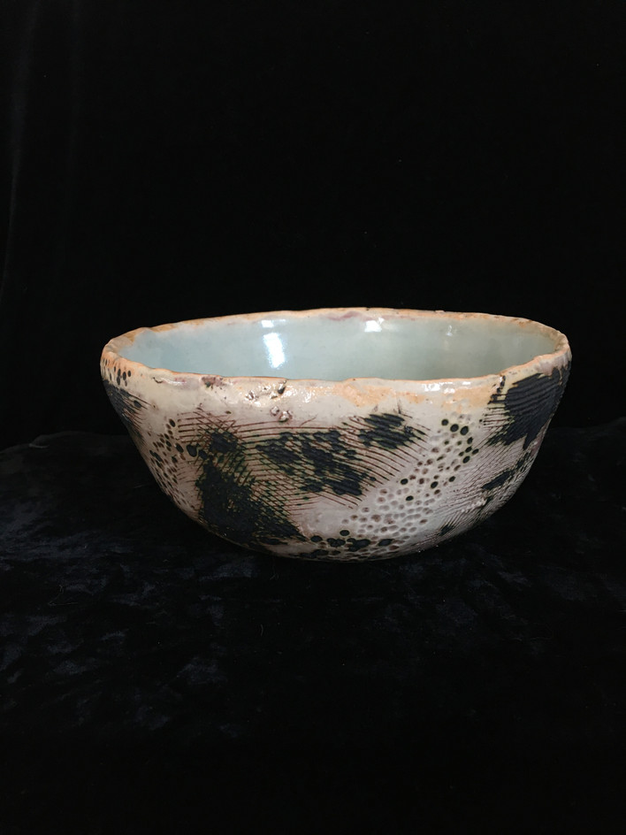 lumpy bowl 1, side view 2